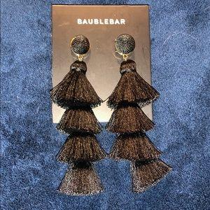 Bauble Bar Gabriela Fringe Earrings in Black